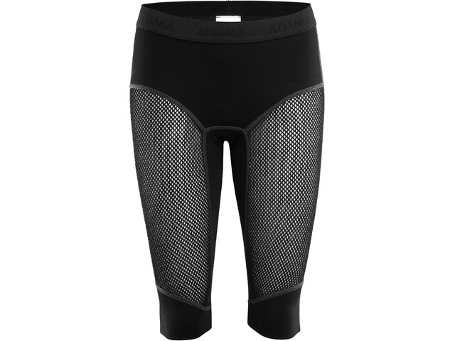 Aclima WoolNet Shorts largos hasta la rodilla Mujer, jet black